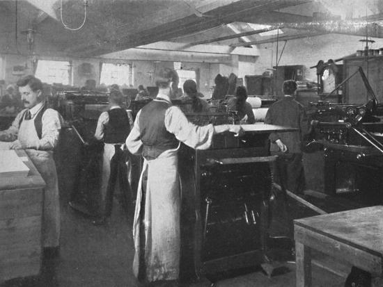 'In the Machine Room', 1916-Unknown-Photographic Print