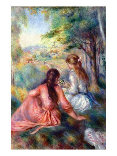 In the Meadow-Pierre-Auguste Renoir-Premium Giclee Print