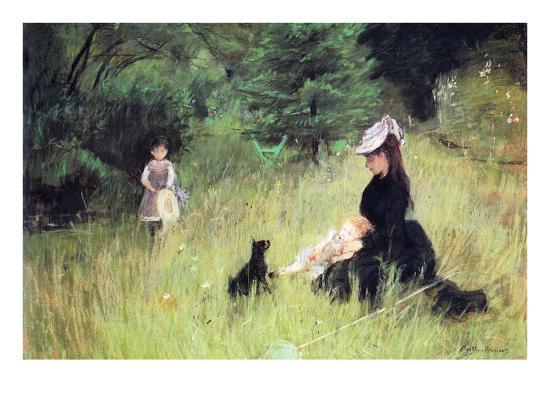In the Meadow-Berthe Morisot-Art Print