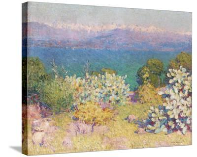 In the Morning, Alpes Maritime from from Antibes-John Peter Russell-Stretched Canvas Print