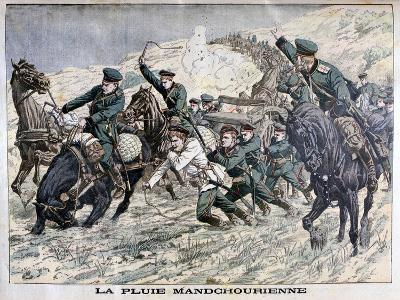 In the Mud of Manchuria, Russo-Japanese War, 1904--Giclee Print