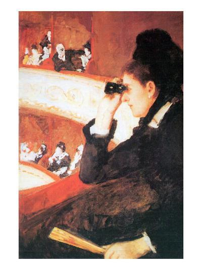 In The Opera-Mary Cassatt-Art Print