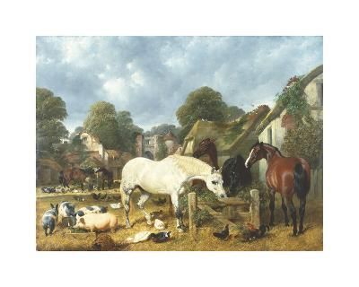 In The Paddock-John Frederick Herring I-Premium Giclee Print