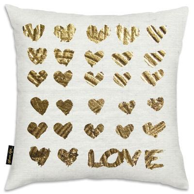 In The Papers Gold Throw Pillow--Home Accessories