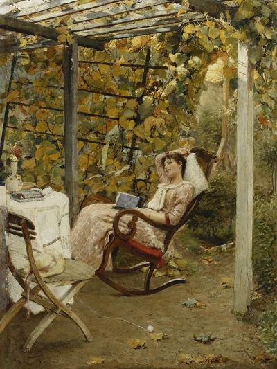 In the Pergola, 1894-Oscar Bluhm-Giclee Print