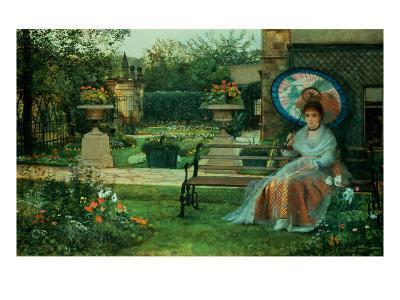 In the Plesaunce, Knostrop Hall, Leeds, 1875-Grimshaw-Giclee Print