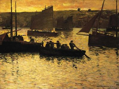 In the Port, 1895-Charles Cottet-Giclee Print