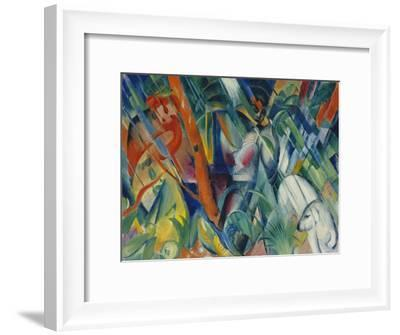 In the Rain, 1912-Franz Marc-Framed Giclee Print