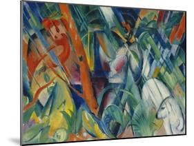 In the Rain, 1912-Franz Marc-Mounted Giclee Print