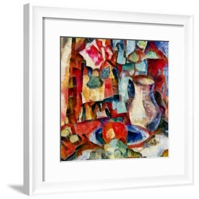 In the red #18,2017-Alex Caminker-Framed Giclee Print