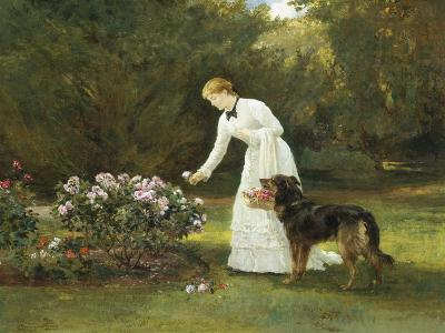 In the Rose Garden-Heywood Hardy-Giclee Print