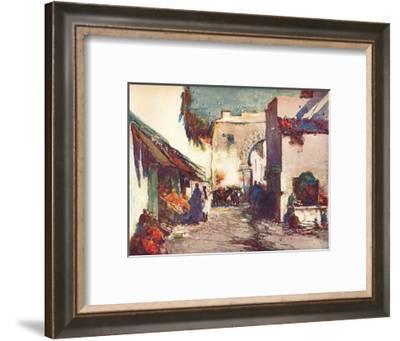'In the Street (A Scene in Tangier)', c1903 (1903-1904)-George Charles Haite-Framed Giclee Print