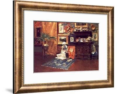 In the Studio-William Merritt Chase-Framed Art Print