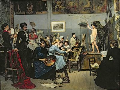In the Studio-Maria Konstantinova Bashkirtseva-Giclee Print