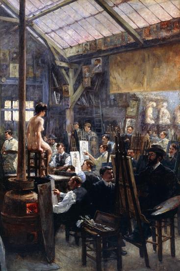 In the Studio-Albert Lynch-Giclee Print