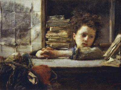 In the Study-Antonio Mancini-Giclee Print