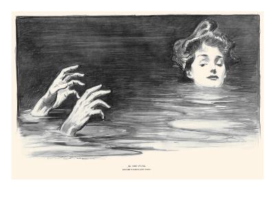 In the Swim-Charles Dana Gibson-Art Print