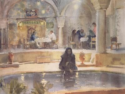 In the Teahouse, Kerman-Trevor Chamberlain-Giclee Print