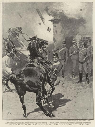 In the Thick of It, Narrow Escape of General Mavromichaelis at Reveni-John Charlton-Giclee Print