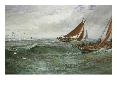 In the Track of the Trawlers-Charles Napier Hemy-Giclee Print