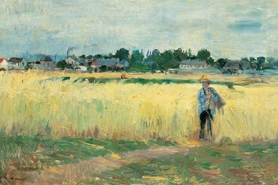 In the Wheat Fields at Gennervilliers-Berthe Morisot-Giclee Print
