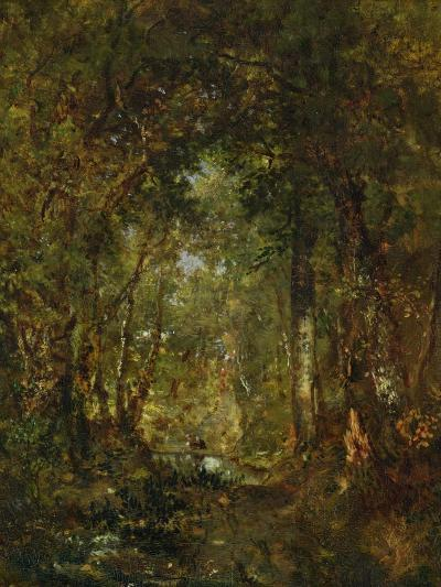 In the Wood at Fontainebleau-Th?odore Rousseau-Giclee Print