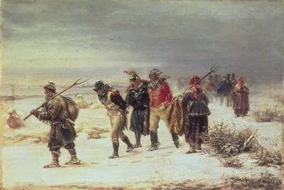 In the Year 1812 (The Retreat from Moscow) 1873-Illarion Mikhailovich Pryanishnikov-Giclee Print