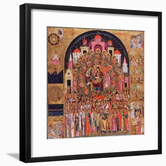 In Thee Rejoiceth All Creation-Franghias Kavertsas-Framed Giclee Print