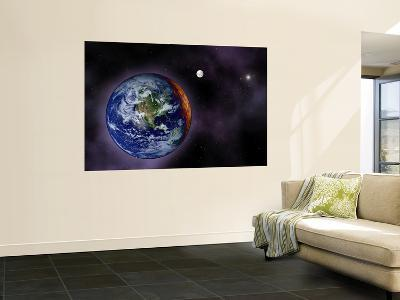 In This Artist's Visualization, the Earth is Shown at the Outer Edges of the Known Solar System--Wall Mural