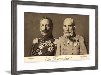 In Treue Fest, Kaiser Wilhelm 2 Und Joseph 1, Liersch--Framed Giclee Print
