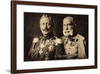 In Treue Fest, Kaiser Wilhelm II, Kaiser Franz Josef--Framed Giclee Print