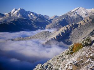Clouds Fill the Valley of Llobegat in Cadi Moixero Natural Park. Catalonia, Pyrenees, Spain by Inaki Relanzon