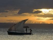 Fishing Boat at Dawn, Ramena Beach, Diego Suarez in North Madagascar-Inaki Relanzon-Photographic Print