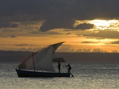 Fishing Boat at Dawn, Ramena Beach, Diego Suarez in North Madagascar