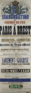Inauguration du chemin de fer de Paris à Brest