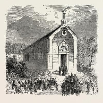 Inauguration of a Protestant Church in Conde-Sur-Noireau, France. 1855--Giclee Print