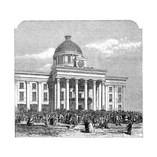 Inauguration of Jefferson Davis, President of the Confederacy, Montgomery, Alabama, 1861--Giclee Print
