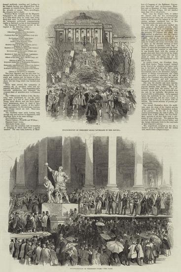 Inauguration of President Polk--Giclee Print
