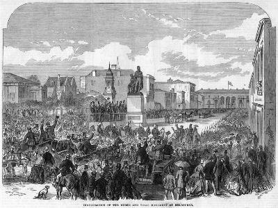 Inauguration of the Burke and Wills Monument at Melbourne, Australia, 1865--Giclee Print