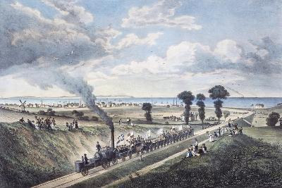 Inauguration of the Canterbury-Whitstable Line, May 3, 1830, England, United Kingdom, 19th Century--Giclee Print