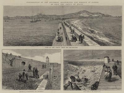Inauguration of the Holyhead Breakwater and Harbour of Refuge by Hrh the Prince of Wales--Giclee Print