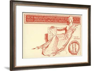 Inauguration of the Monument Commemorating the Foundation of the Universal Postal Union, 1909--Framed Giclee Print