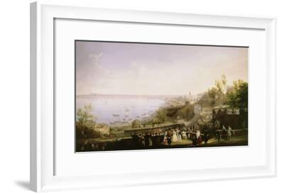 Inauguration of the Naples - Portici Railway, 1839-Salvatore Fergola-Framed Giclee Print