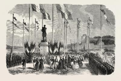 Inauguration of the Statue of Admiral Le Ray, Pornic, August 12, 1855,--Giclee Print