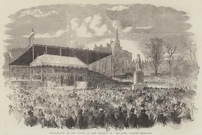 Inauguration of the Statue of Her Majesty, in Peel-Park, Salford--Giclee Print
