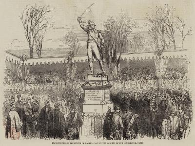 Inauguration of the Statue of Marshal Ney, in the Gardens of the Luxembourg, Paris--Giclee Print