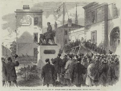 Inauguration of the Statue of the Late Mr Richard Green at the Public Baths, Poplar--Giclee Print