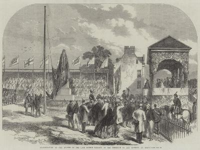 Inauguration of the Statue of the Late Prince Consort, in the Presence of Her Majesty, at Perth--Giclee Print