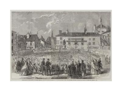 Inauguration of the Statue to Samuel Crompton--Giclee Print