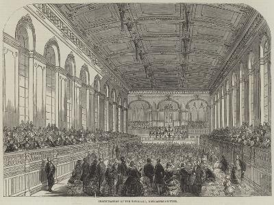 Inauguration of the Townhall, Newcastle-On-Tyne--Giclee Print